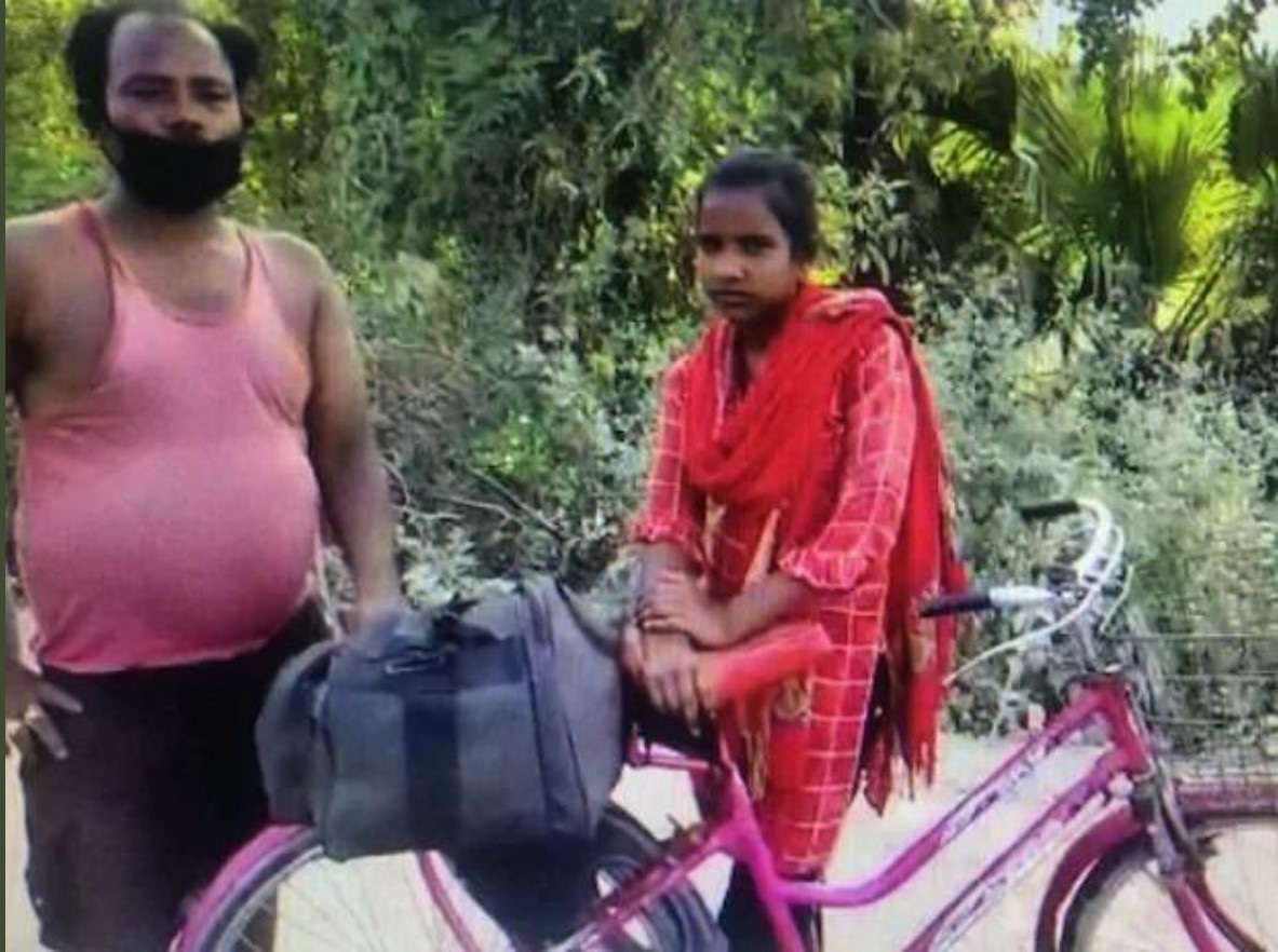 Jyoti cycles 1200 kms with injured father: a story of grit, courage and state's failure