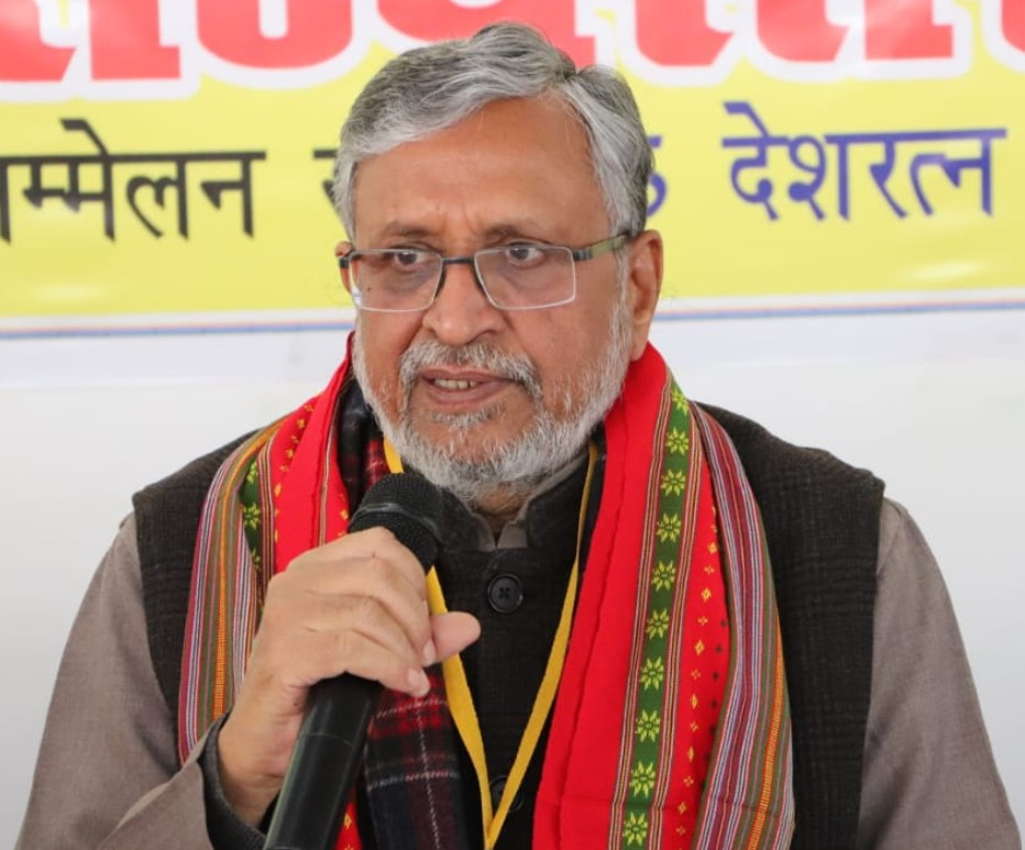 Sushil Modi Requests Central Govt to Bear Full Expenses of all Centrally Sponsored Schemes