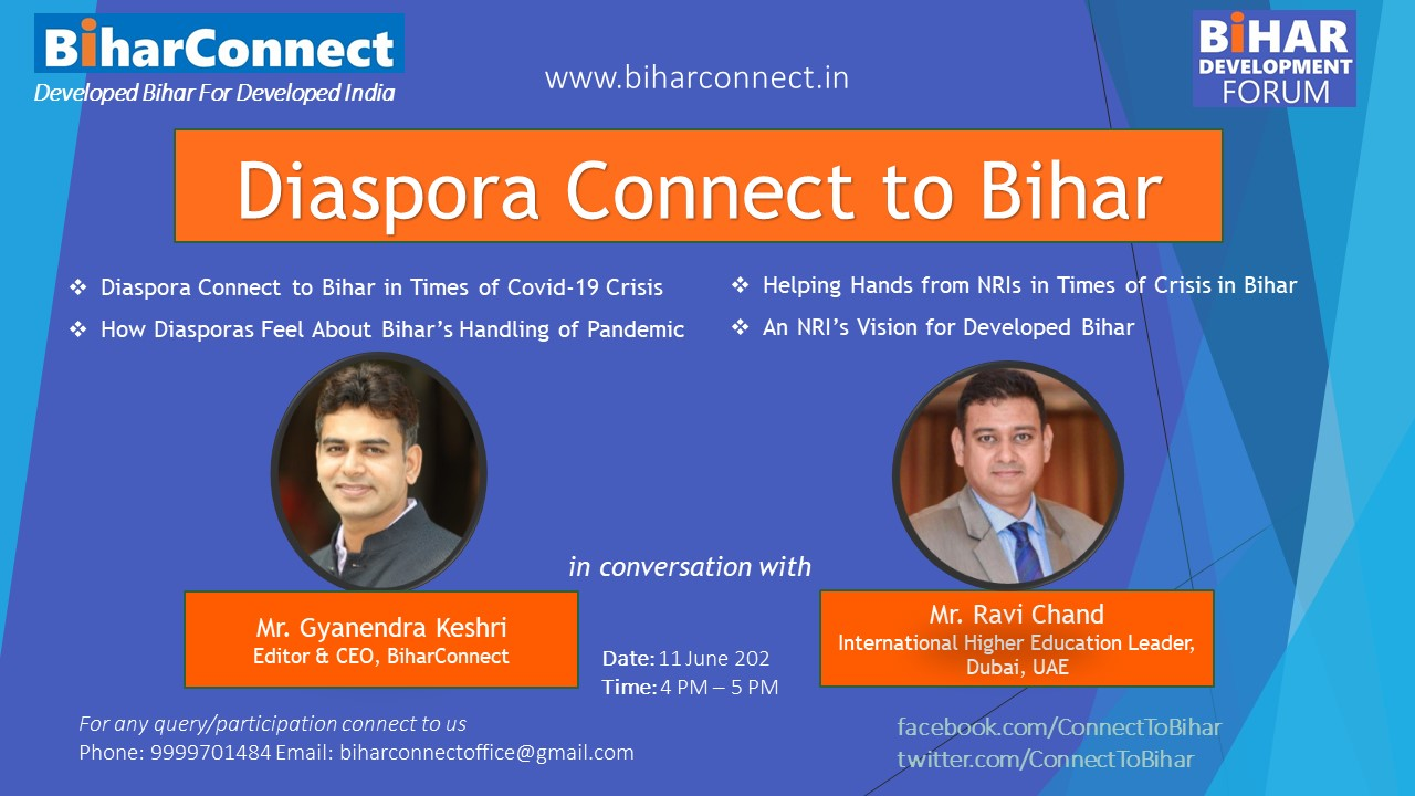 Diaspora Connect to Bihar: Helping Hands From Across the Borders in Times of Crisis