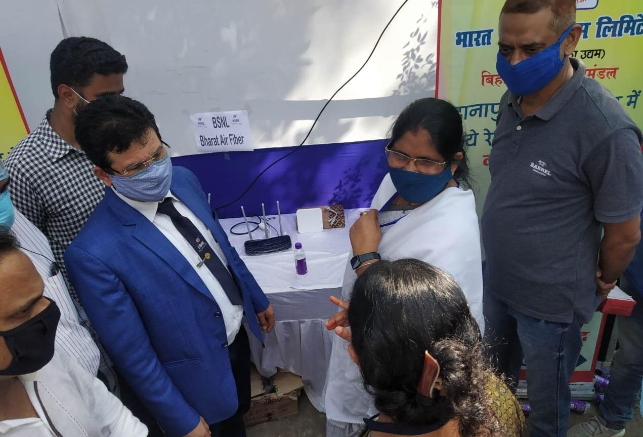 BSNL launches high-speed wireless broadband service Bharat AirFibre in rural Bihar